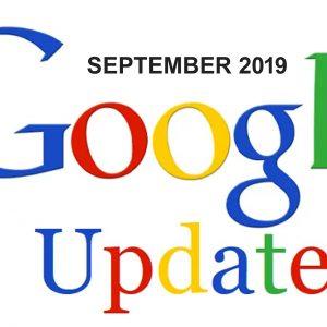Google Updates text written