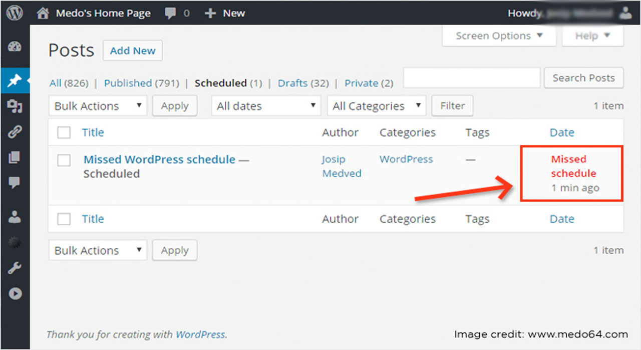 How to Publish a Missed Scheduled Post in WordPress?